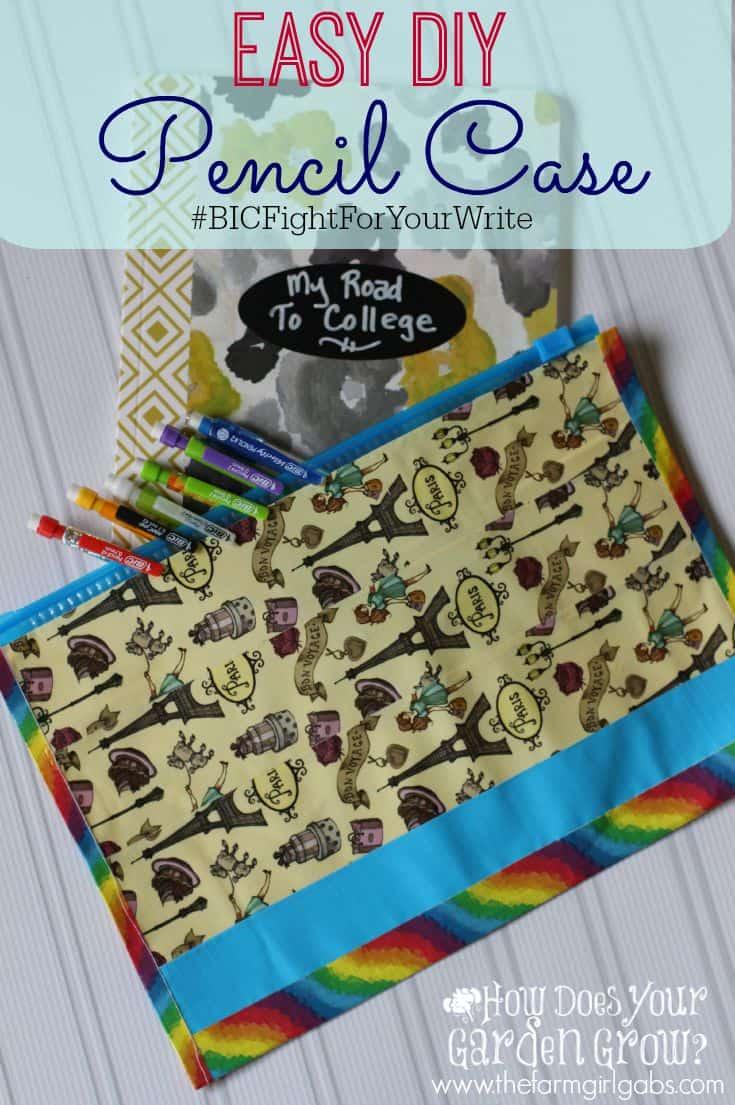 Easy DIY Pencil Case #BICFightForYourWrite #ad