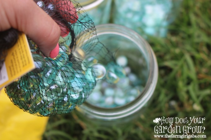 Mason Jars - marbles