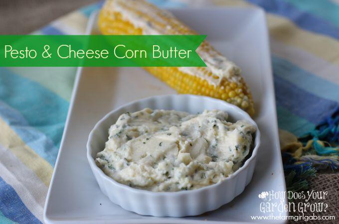 Pesto & Cheese Corn Butter