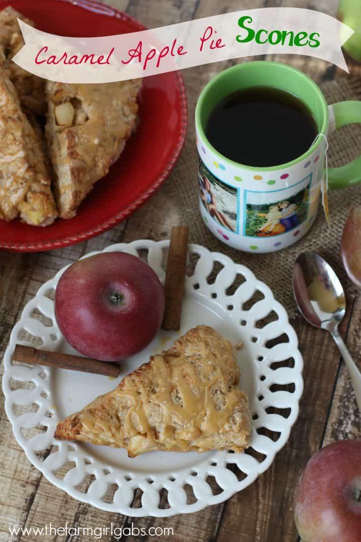 Caramel Apple Pie Scones from www.thefarmgirlgabs.com