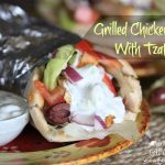 Grilled Chicken Gyros with Tzatziki