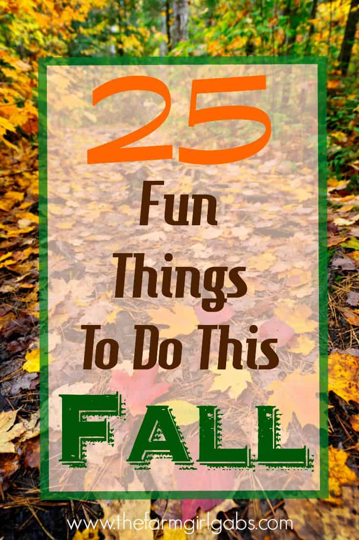 Cooler weather, beautiful colors and pumpkin EVERYTHING, make fall a special time of year. Check out these 25 Fun Things To Do This Fall! #fall #pumpkins #pumpkincarving #fallactivities
