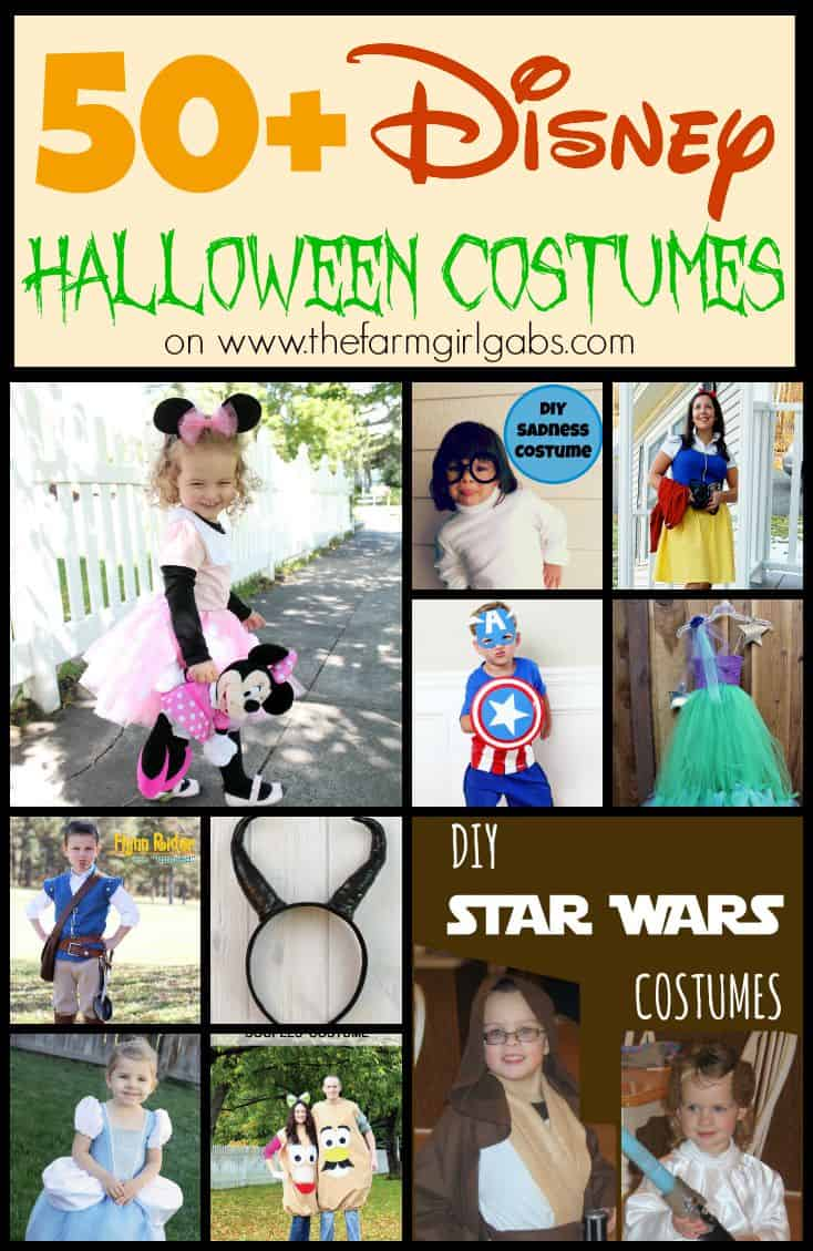 50+ Disney Halloween Costume ideas as seen on www.thefarmgirlgabs.com.