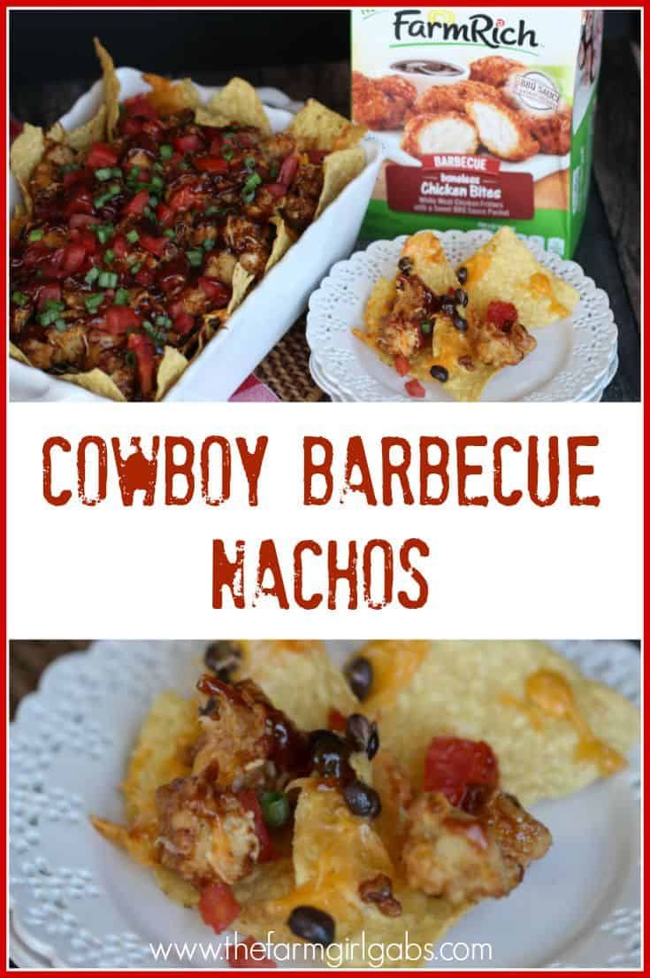 These Cowboy Nachos are the ultimate snack made with only SIX ingredients! This easy recipe is the perfect appetizer for watching football or serving at a party. [Ad] #BackYourSnack #FarmRich