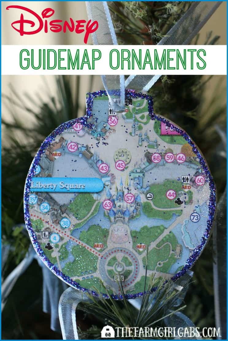 Turn those extra Disney Park Guidemaps you have collected into these fun Disney Guidemap Christmas Ornaments. This easy craft project adds a little Disney magic to your Christmas tree.