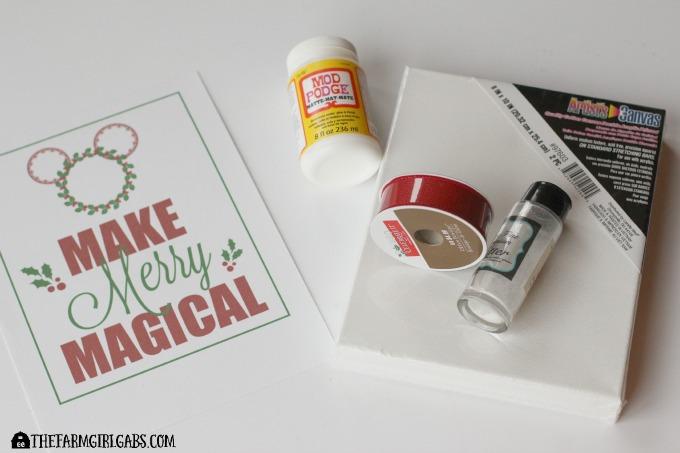 Disney Holiday Glitter Art Supplies