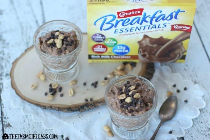 Chocolate Peanut Butter Overnight Oats - Feature 1