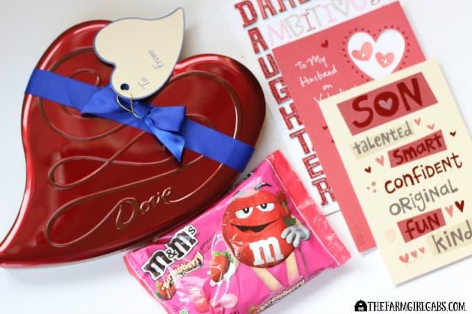 M&M's® Strawberry DOVE® Valentine's Day tin American Greetings®