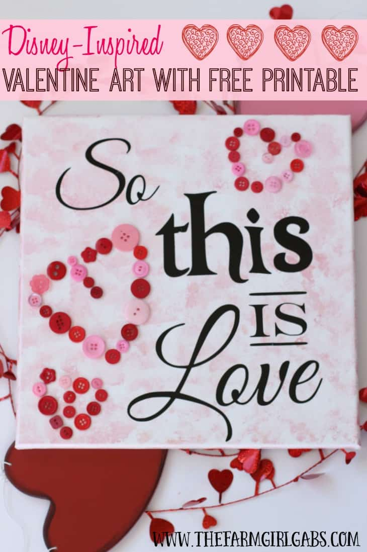 This Disney-inspired So This Is Love Valentine Art is the perfect Valentine's Day craft.