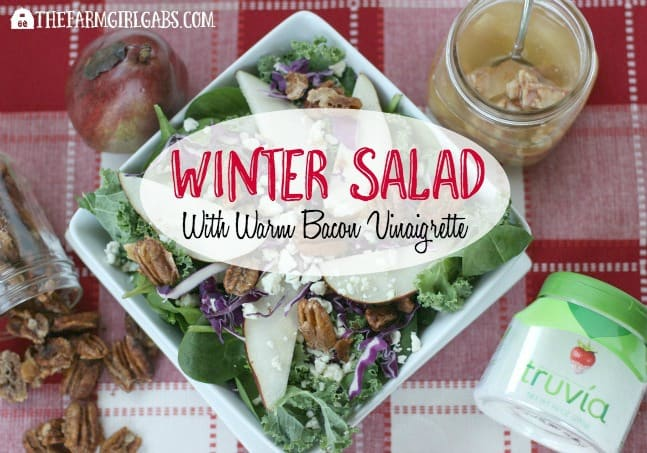 Winter Salad With Candied Pecans, Pears And Warm Bacon Vinaigrette