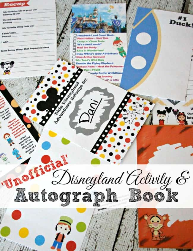 2016 The Unofficial Disneyland Activity And Autograph Book by Busy Mom's Helper.