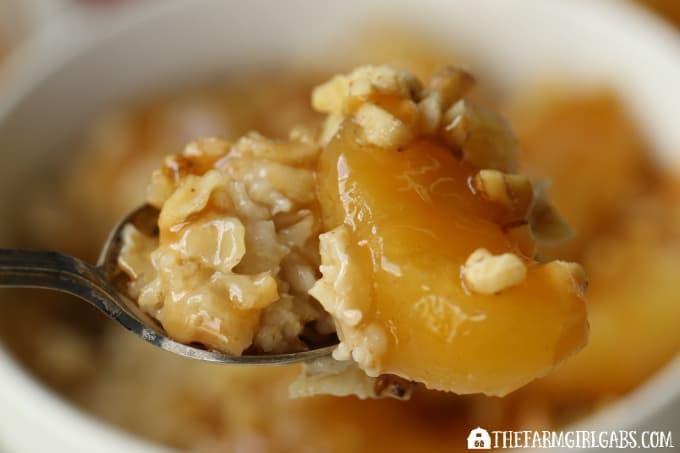 Apple Caramel Walnut Oatmeal