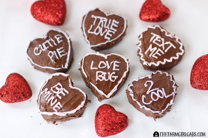Brownie Conversation Hearts