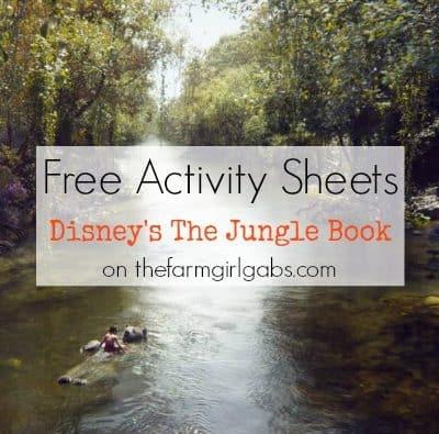 Disney's Jungle Book Activity Sheets