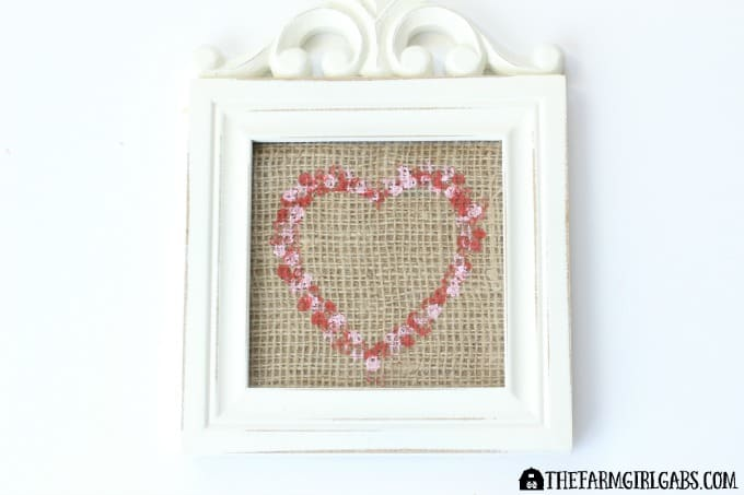 Stamped Burlap Heart Art - Feature 2