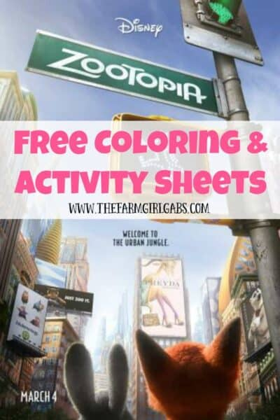 Download these free ZOOTOPIA Coloring and Activity Sheets. Disney's ZOOTOPIA opens in theaters on March 4, 2016.