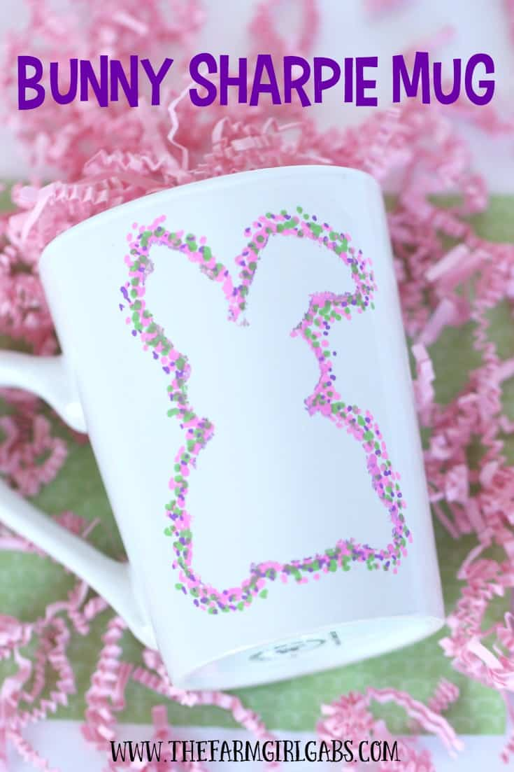 This Bunny Sharpie Mug is an easy DIY craft project that also makes a perfect gift idea for teens.