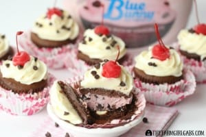 Cherry Bombs {Ice Cream Cupcakes}