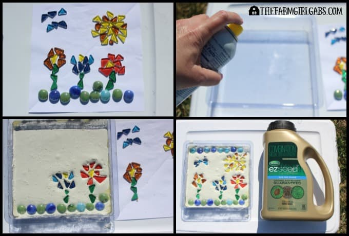 Create Your Own Mosaic Garden Stone - Steps