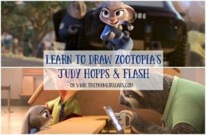 Learn To Draw Zootopia's Judy Hopps & Flash