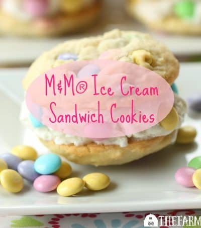 Say hello to spring and warmer weather with these M&M® Ice Cream Sandwich Cookies. The recipe is perfect for kids young and old!
