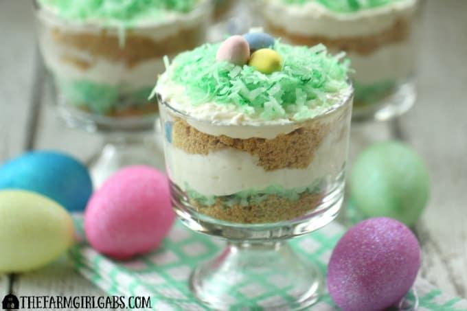 No-Bake Coconut Cheesecake Parfaits #easter