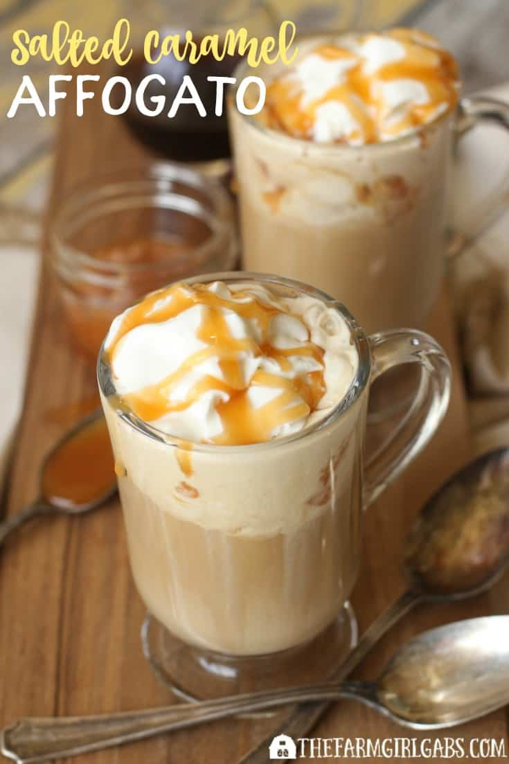 Looking for a simple dessert idea? Try this Salted Caramel Affogato. It's the perfect dessert where coffee, ice cream and salted caramel collide! #CoffeeRoutine #Pmedia Ad