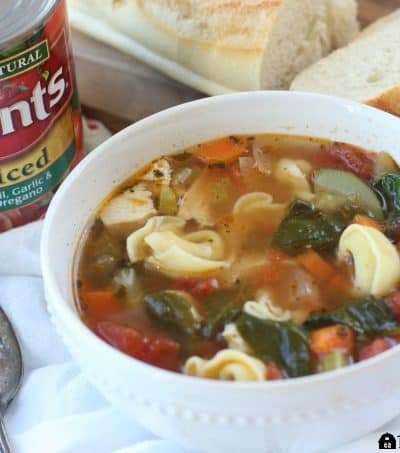 This hearty Tuscan Chicken Soup is the perfect way to warm you up on a cold day. Ad #YesYouCan