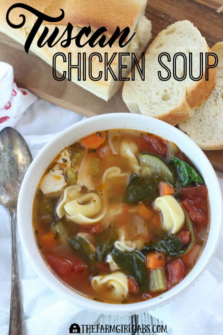 This hearty Tuscan Chicken Soup is the perfect way to warm you up on a cold day. Ad #YesYouCan #Soup #SoupRecipes #Winter