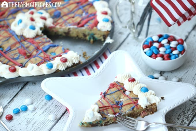 Firecracker Cookie Cake