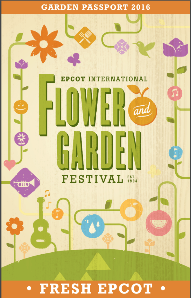 2016 Garden Passport - Epcot International Flower & Garden Festival