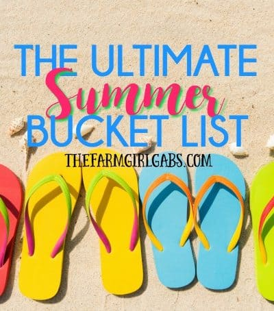 The Ultimate Summer Bucket List Printable! 50 Fun Things To Do With Kids This Summer!