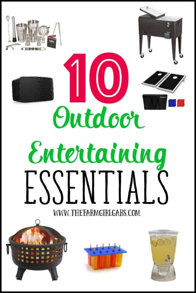 10 Outdoor Entertaining Essentials you can use for your next outdoor party.