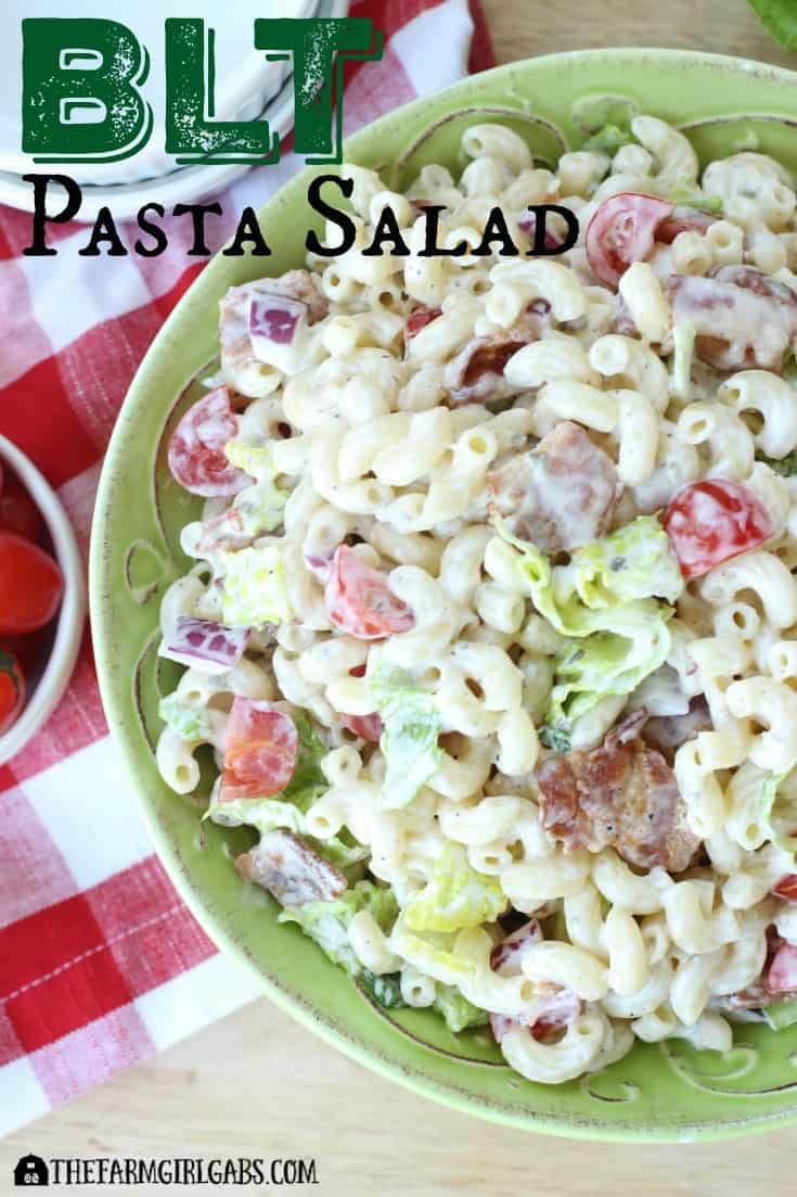 It's picnic season and this BLT Pasta Salad is the perfect easy recipe!