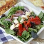 Roma Salad With Balsamic Dressing