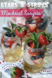 This Stars & Stripes Mocktail Sangria will be a refreshing hit at your next celebration.