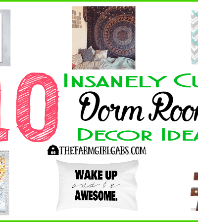 10 Insanely Cute Dorm Room Decor Ideas your college student will love.