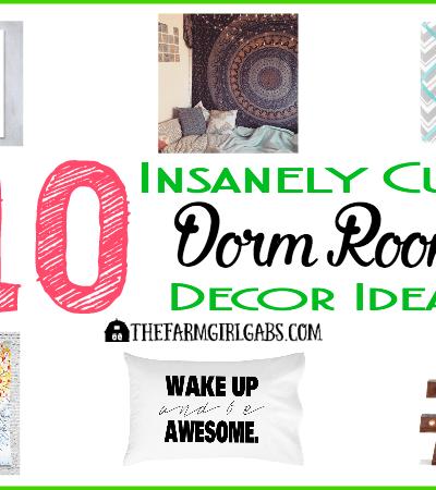 10 Insanely Cute Dorm Room Decor Ideas