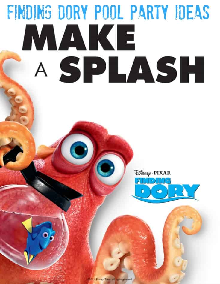Here is a little Finding Dory Summer Fun Swimming your way - Host a Finding Dory Pool Party #HaveYouSeenHer #FindingDory
