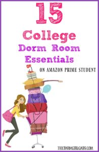15 Must-Have Dorm Room Essentials For College Students on Amazon Prime Student. AD #PrimeStudent #CG