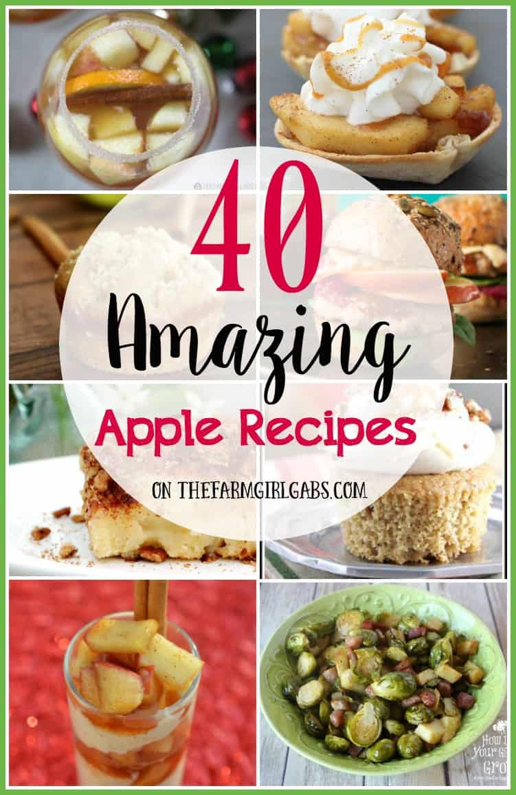 40 Amazing Apple Recipes to celebrate fall! Try one of these delicious recipes for the apples you just picked or bought from your local farmer's market.