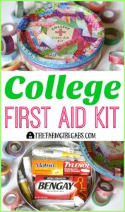 This College First Aid Kit will keep your college student prepared and healthy when they are on campus. AD #PositivelyPrepared #BackToSchool