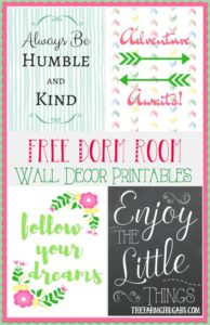 These free Dorm Room Wall Decor printables are the perfect way to accessorize your teen's dorm room. #AD #BTSwithHP