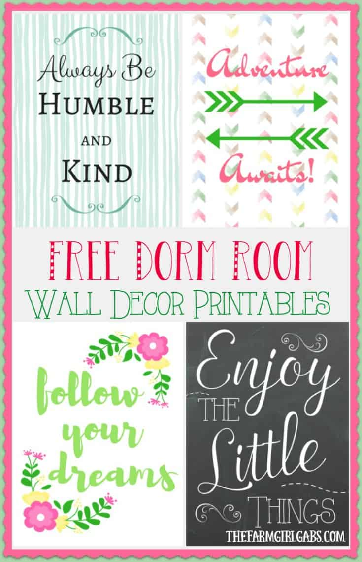 These Free Dorm Room Wall Decor Printables Are The Perfect Way To Add Style  On A Part 83