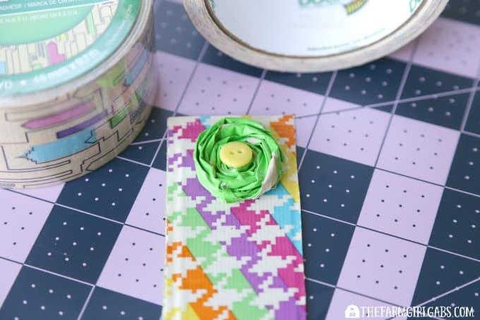 Duck Tape® Flower Bookmarks