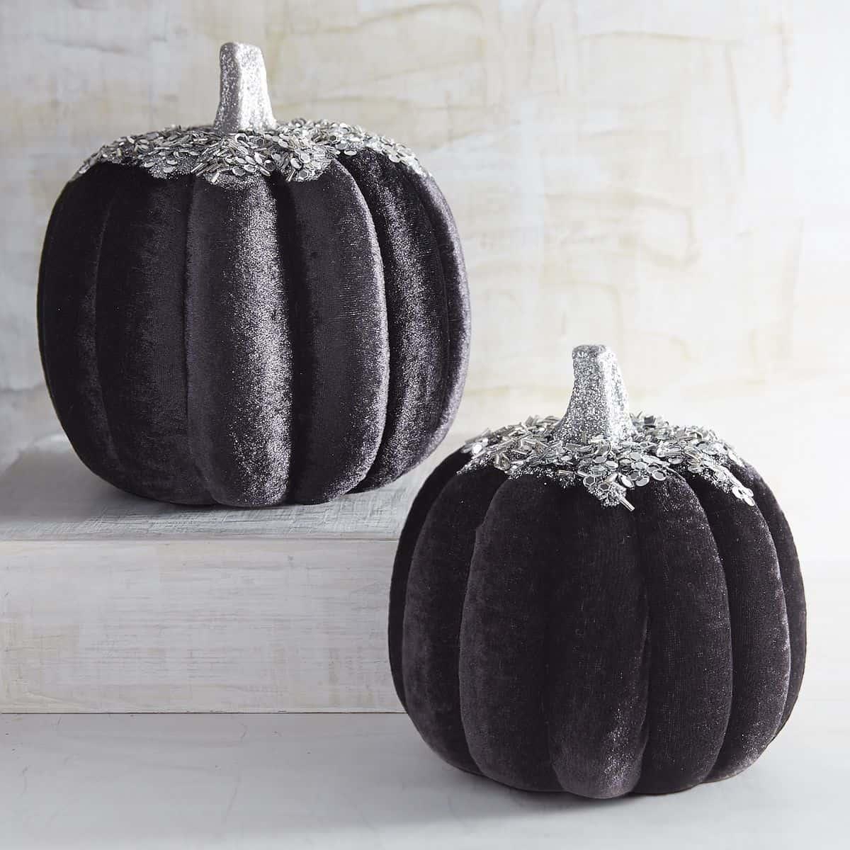 Sequined Velvet Pumpkins