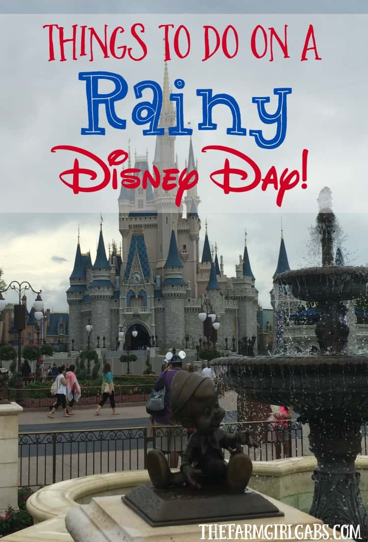 Don't let a little rain ruin all the family vacation fun at Walt Disney World. Check out these fun things to do on a rainy Disney Day.