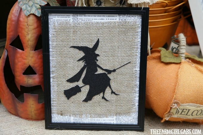 Add some bewitching fun to your Halloween decor. This simple Framed Burlap Witch Art is an easy fall DIY project to make.