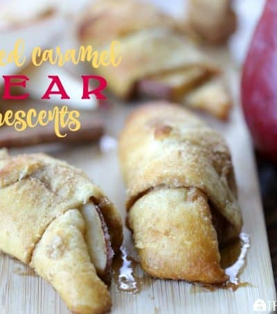 Salted Caramel Pear Crescents