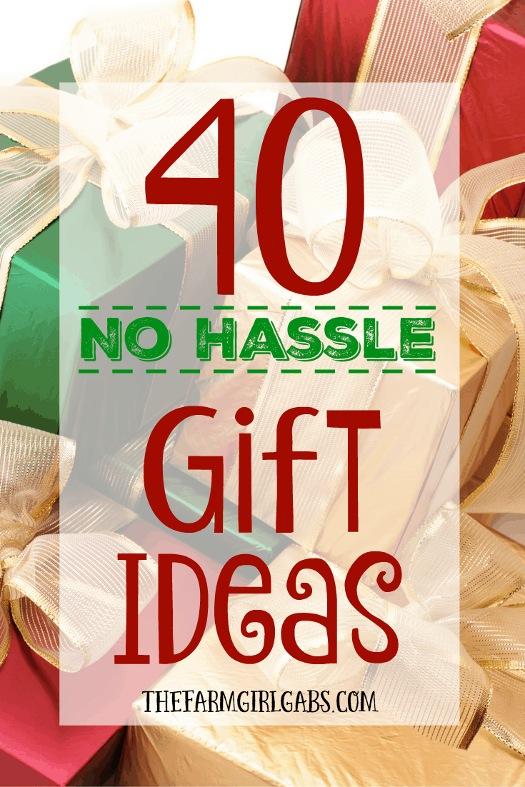Struggling to find a simple gift idea for the holiday season? Here are 40 No Hassle Gift Ideas to make your holiday gift shopping a breeze.